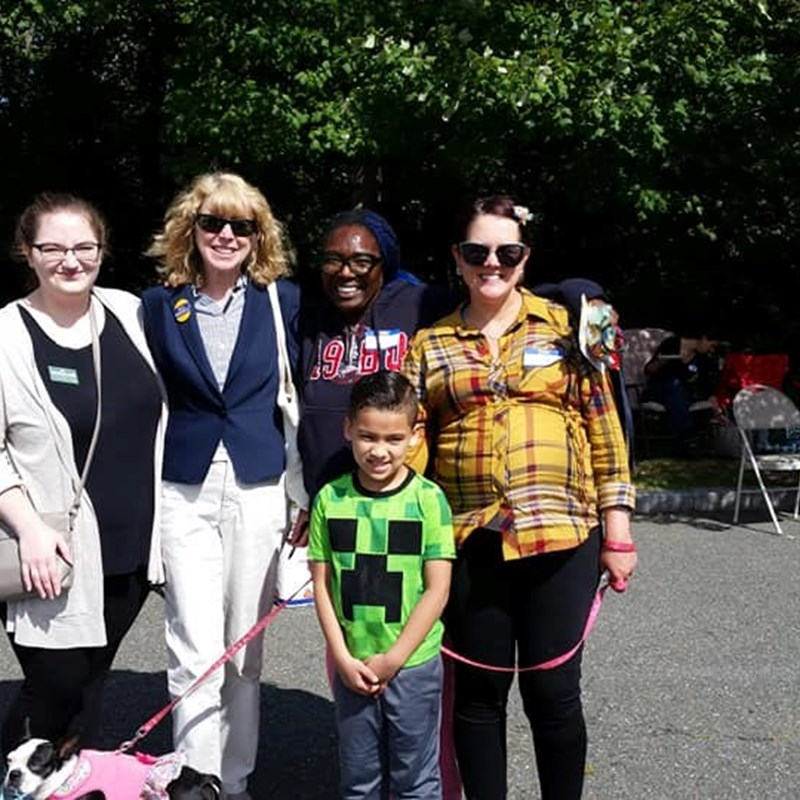 Lovely time today at the Block Party for the Barnes, Clark, Wyman Area Neighborhood Association!