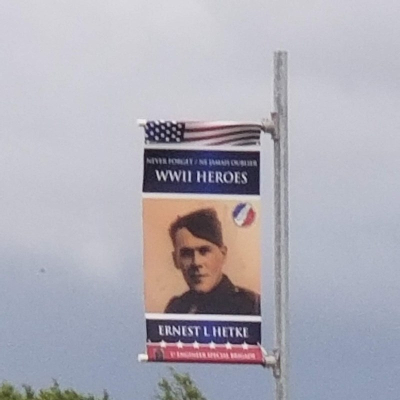 These flags are along roads honoring the men that died for their freedon.