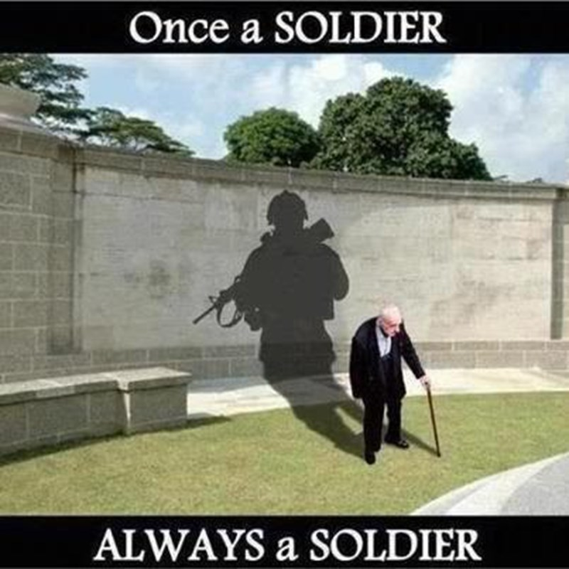 One of my favorite pics and I see older men with their service hats..