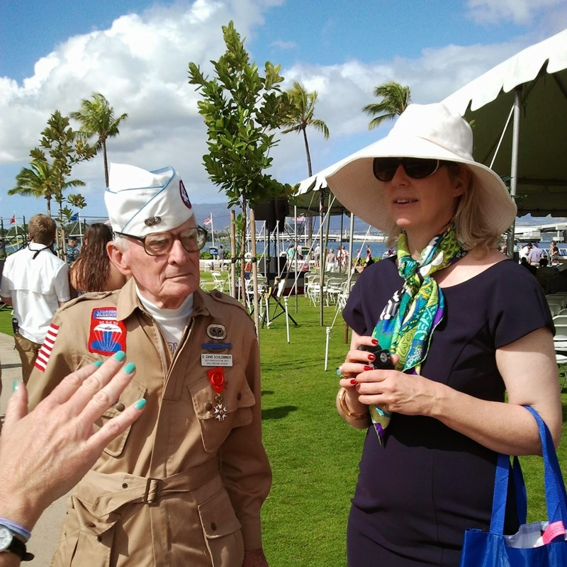 How I ended up in Normandy. I was talking to this woman who was with Zane and she told me what the Normandy coast did and she was one of the organizers and that I could stay at her Chateau. She was the Countess of Sainte Marie Eglise. Sadly, Zane died just months before the 70th DDay anniversary.