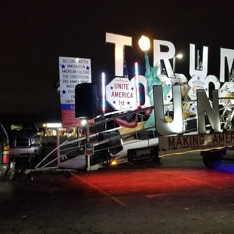 At our Unity Dinner the Trump Unity Bridge made an appearance