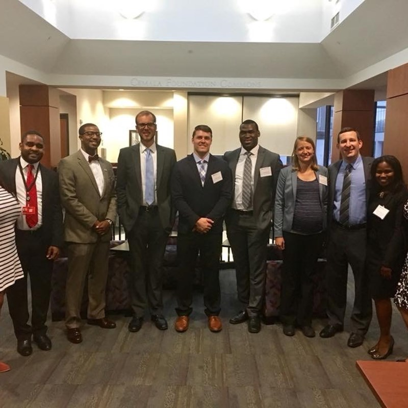 Networking with law students at Elon University, School of Law