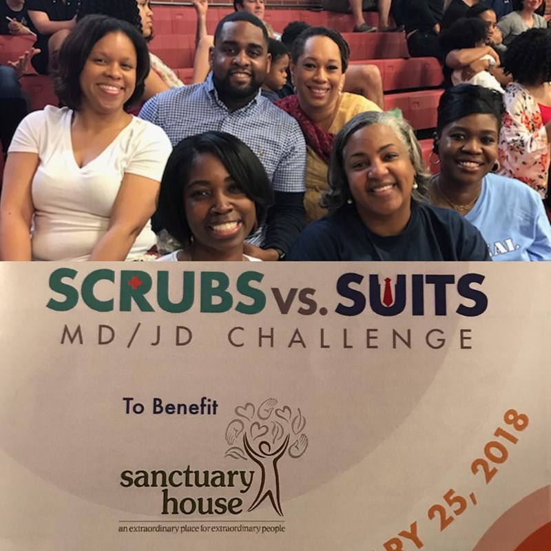 Attending Scrubs vs. Suits charity basketball game to benefit Sanctuary House