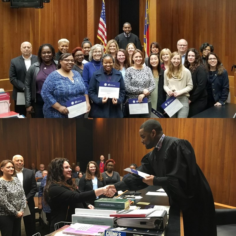 Welcoming Guilford County's newest Guardian Ad Litem Volunteers on November 21, 2018.