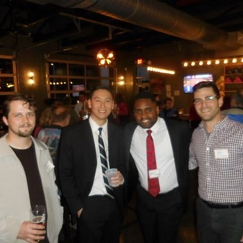 Networking with Greensboro Bar Association Young Lawyers and Law Students
