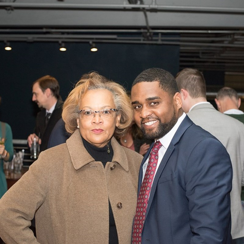 Photographed with Superior Court Judge Patrice Hinnant