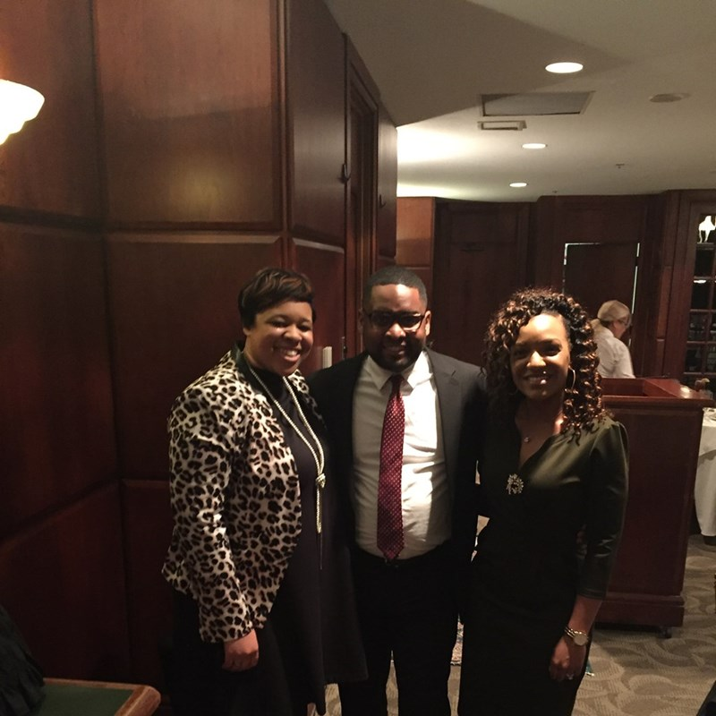 Attending the annual Professionalism Dinner with students and alumni of NC Central University, School of Law with Wake County District Court Judge Ashleigh Dunston