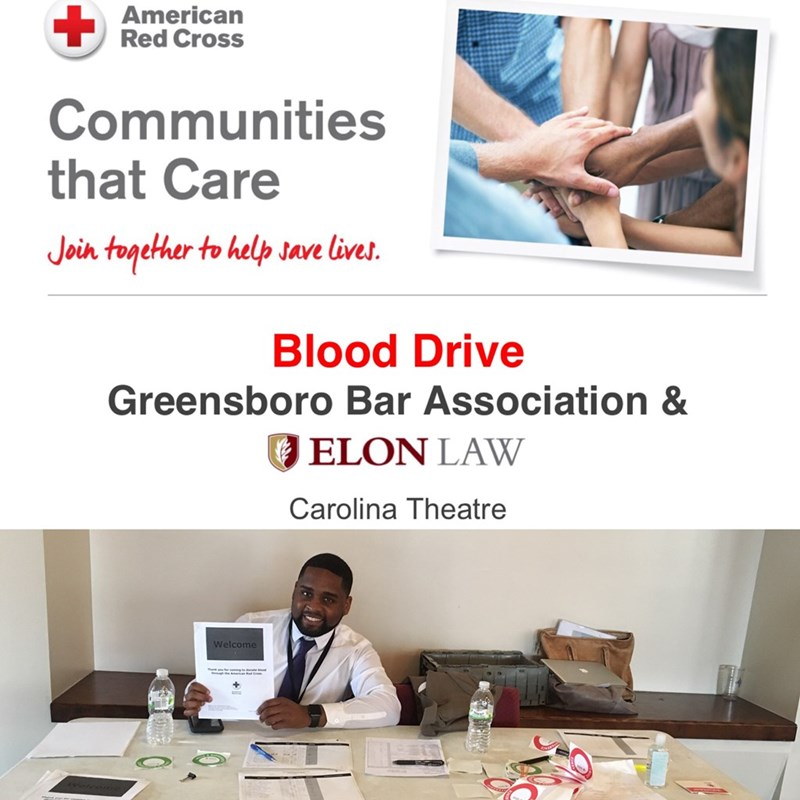 Volunteering with American Red Cross and the Greensboro Bar Association
