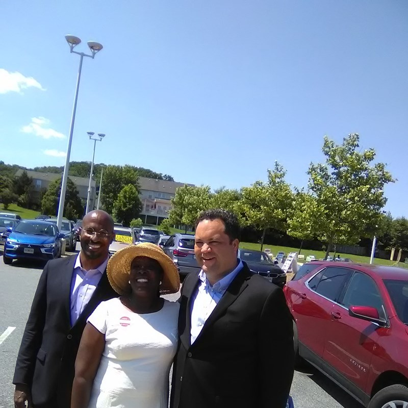 Diedra, Van Jones, and the next governor of Maryland, Ben Jealous.