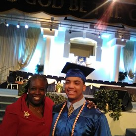 Diedra and the valedictorian.  Congratulations!