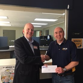 United Food and Commercial Workers Union, secretary-Treasurer, Alex Garcia is happy to give a  $2,000 contribution to help Dave in his campaign.