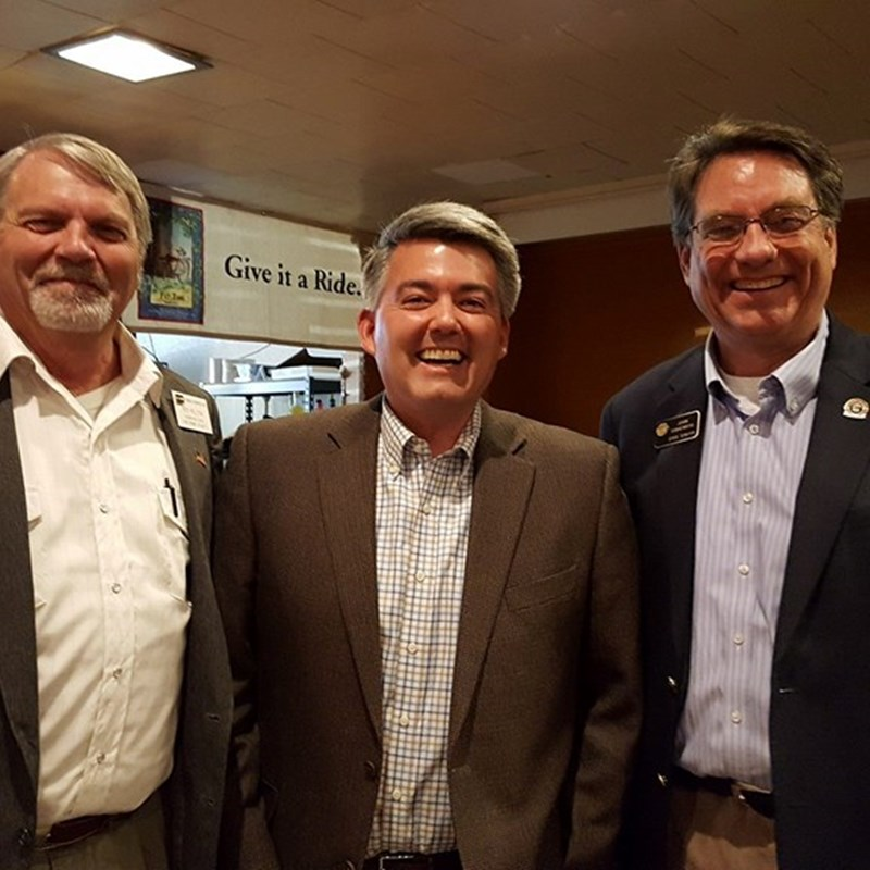 Senators Gardner and Sonnenberg with me at the Yuma County Assembly 2018