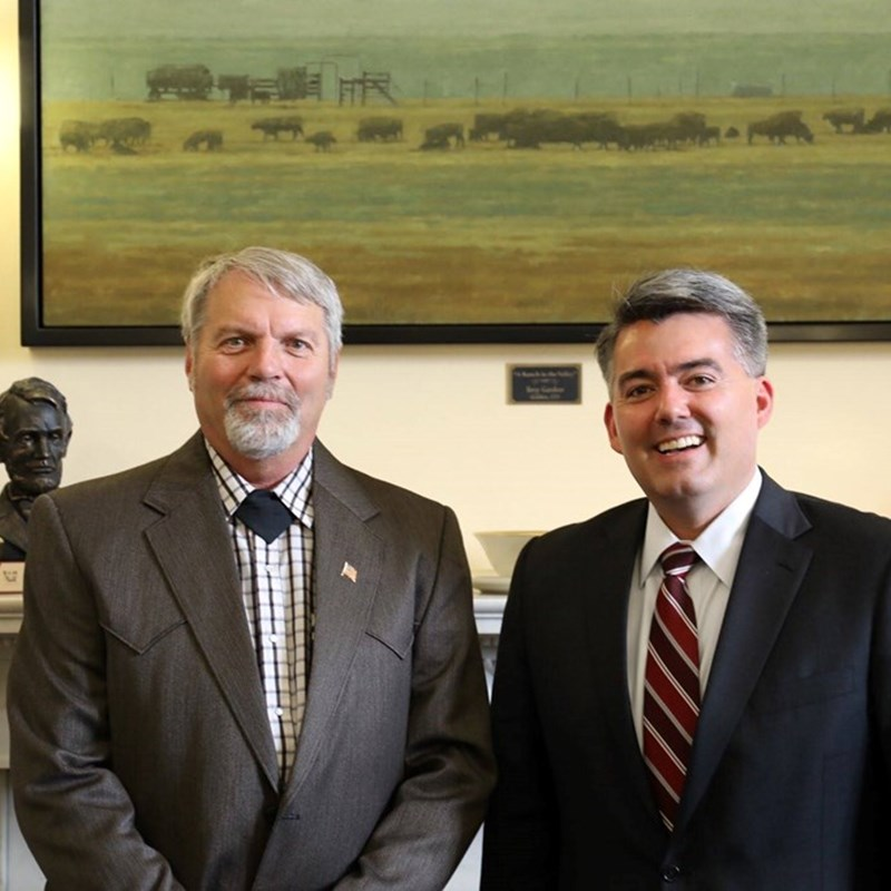 With Senator Gardner in Washington, DC, February, 2017