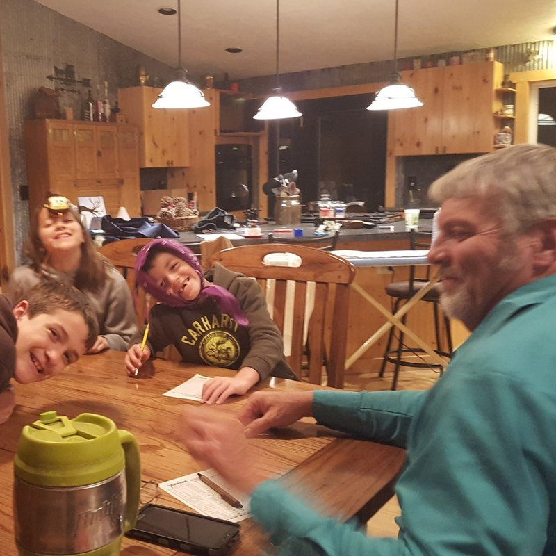 Playing Yahtzee with the Grandkids!