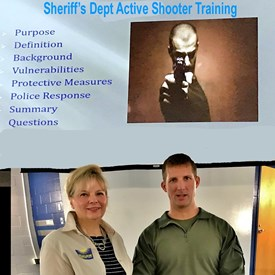 With two mass shootings in the past 12 months in Harford County, I participated in a special Civilian Active Shooter Training session taught by Deputy Tom Wehrle, a SWAT/Sniper Team Coordinator.   The session was part of an update for alums of the Harford County Citizens' Police Academy. As a candidate, I attended the Citizens' Police Academy because I feel it's important to know the workings of a department that takes up a large part of the budget and provides vital services.