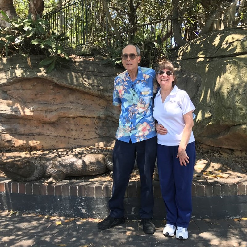 Mike and Patti explored Australia this year and met a friend at the zoo.