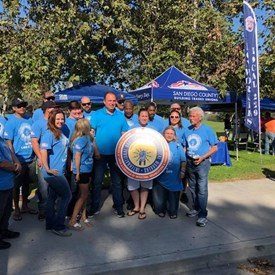 IBEW walking for our campaign.   Thank you!