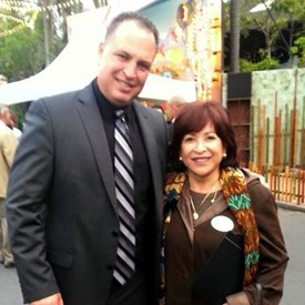 With Mayor Mary Casillas-Salas.  Thank you for your support and endorsement