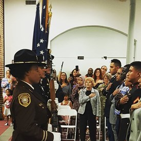 When I worked as a Consular Officer at one of the largest U.S. visa processing facilities in the world, I adjudicated a lot of Immigrant Visas. I always hoped I'd one day get to see a Naturalization ceremony when Permanent Residents take their oath to become U.S. citizens. This day was that day, and I was immensely proud.