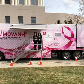 March 4, 2019  Thank you @NVHC1977 for giving @MichelleGorelow & I a tour of the Nevada Health Centers Mammovan! It was incredible to learn all the work you do in providing mammograms to women in underserved areas across our state. #NVLeg