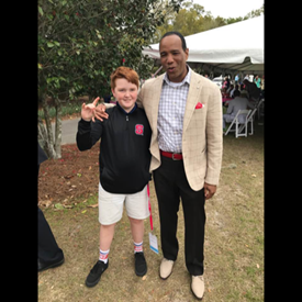 Judge Ray's son Brother with current NC State and former UNCW Men's Basketball Coach Kevin Keatts