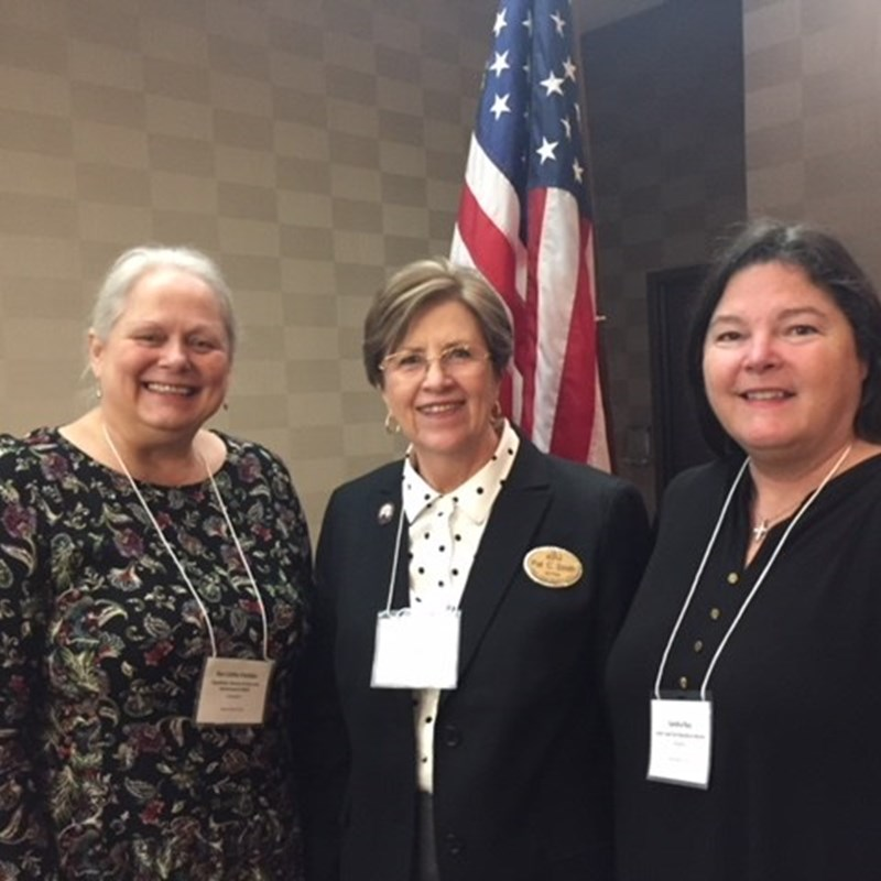 Judge Ray with Pastor Cathy Fanslau and Pat Smith (President NCFRW) who are fellow Sigma Kappa sisters and Republican Women at a meeting of the North Carolina Federation of Republican Women.