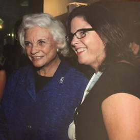 Judge Sandra Alice Ray with US Supreme Court Jusice Sandra Day O'Connor. Justice Sandra Day O'Connor served from her 1981 appointment by President Ronald Reagan until her retirement in 2006. Justice Sandra Day O'Connor was the first woman to serve on the United States Supreme Court.