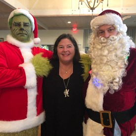 Judge Sandra Alica Ray with The Grinch and Santa Claus, Christmas 2019
