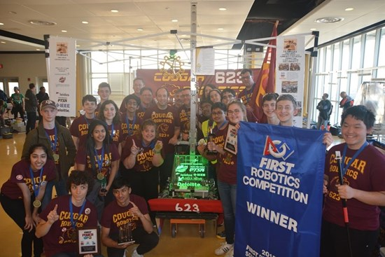 Our IEEE NoVA Section sponsored FRC Team 623 from Oakton High School.  World Finals Qualified!!