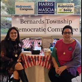 Nancy D'Andrea and Catherine Santaiti of the Bernards Township Democratic Committee