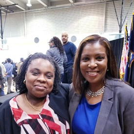 Farah Despeignes and NYC Public Advocate Letitia James