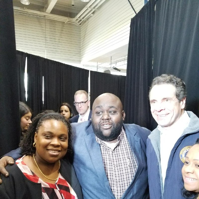 Farah Despeignes, Danny Barber and Governor Andrew Cuomo