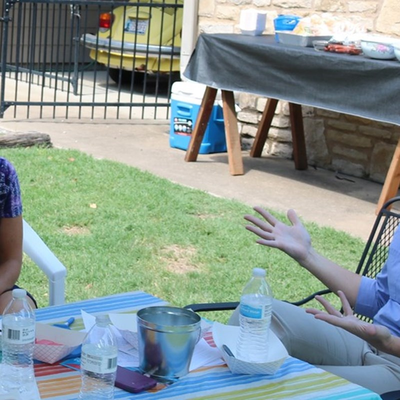 Meet and Greet the district's Pro-Education candidate. Hosted by Catherine Woods and Nancy McDonald.  Voters stopped by to ask questions and talk issues with the educator in the race for House District 79.