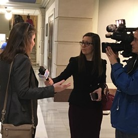 Interview with KFOR right after filing to run for office.
