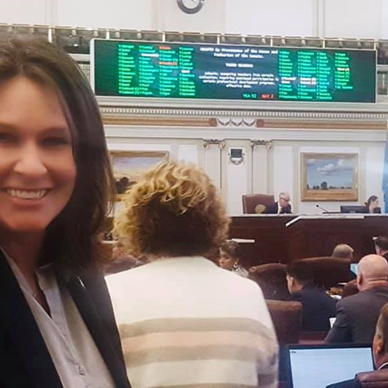 My first bill passed off the house floor this past session!
