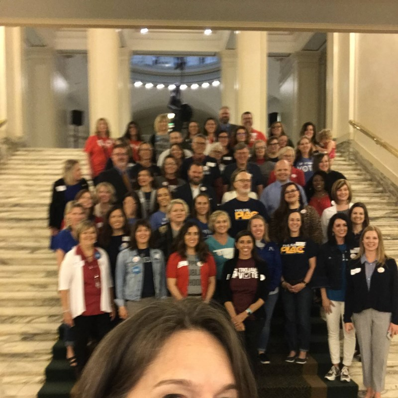 All Oklahoma PLAC groups came to the capitol to visit and to advocate.  I was lucky to get to meet and listen!