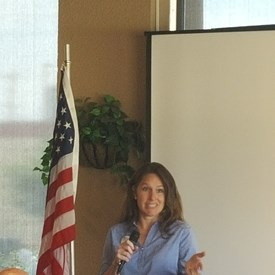 Speaking at the Tulsa County Democratic Party luncheon.