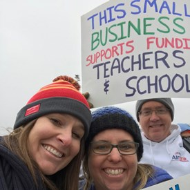 Small business stands with Educators!