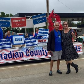 2018 Western Days Canadian County Democrats Float, Mustang, OK (9/08/2018).