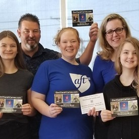 The Elect Sarah Carnes Canvassing Team out in our community (06/03/2018, Left to Right): Steven Vincent, Miss Carnes, Jeramy Carnes, Ashley Wilson, Sarah Carnes, Miss Carnes, and Michelle Barnes.