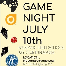 Game Night - Mustang High School Key Club Fundraiser (July 10, 2018).