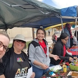 Art tent volunteers, 2018 Dia de los Ninos Festival, Southwest 29th District, OKC (4/29/2018)