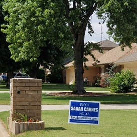 Show your support and commitment to vote during the primary election on Tuesday, June 26, 2018.  Claim your yard sign by contacting 405-806-0567 or emailing ElectSarahCarnes@gmail.com (6/11/2018).
