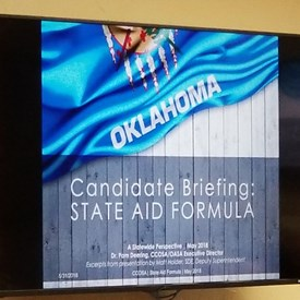 CCOSA Education, Budget, & Candidate Policy Briefing, May 31, 2018, OKC.