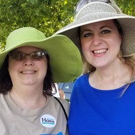 Chantelle Cory HD 43 and Sarah Carnes HD 47 Democratic Nominees at the Freedom Festival Parade on Independence Day (July 4, 2018).