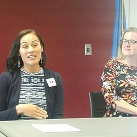 Ashley Nicole McCray and Sarah Carnes, Canadian County Democrats Meeting (July 9, 2018).