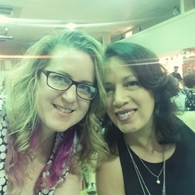 May 5, 2018 - Asia Society of Oklahoma, Inc., 32nd Annual Asian Festival.  Sarah Carnes and Melly Rivera-Melendez (former Northwest Classen Classmates).