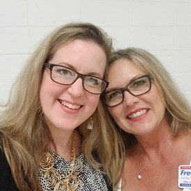 Maggie Dorrell, wife of Fred Dorrell, OK Labor Commissioner candidate (https://www.freddorrell.com/) at the pancake breakfast.