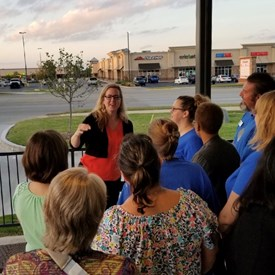Campaign Work Night - Sarah thanking volunteers (September 30, 2018).