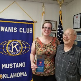 David McElhaney of Mustang invited me to this morning's Mustang Kiwanis Club meeting when we spoke for over an hour at his home last Sunday.  We discussed the Northwest OKC Kiwanis Club, Builder's Club, and Key Club and how my engagement in each of their activities played a pivotal role in my life.  Kiwanis influenced the development of my character through positive experiences, including opportunities to serve my community, public speaking, mentorship, and leadership. (6/09/2018)